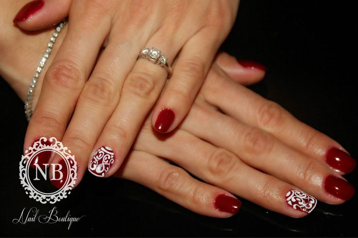 Red nails , intense red