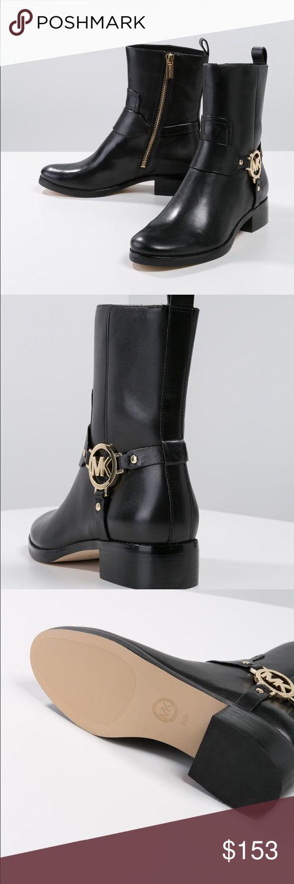 Michael Kors FULTON HARNESS Mk Boots black Women Brand new without box  Michael Kors FULTON HARNESS Mk Boots black Women Michael Kors Shoes Ankle Boots & Booties