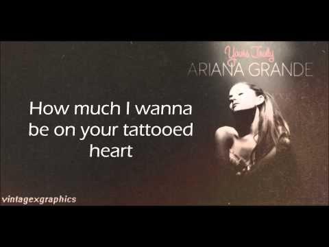 Tattooed Heart - Ariana Grande Lyrics - YouTube