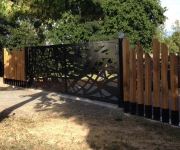Les 25 meilleures id es concernant portail metal sur - Peindre un portail en bois ...