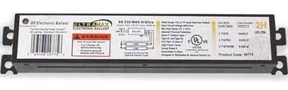 GE Lighting ge432-mv-ps-n Electronic ballast,t8 lamps,120 to 277V