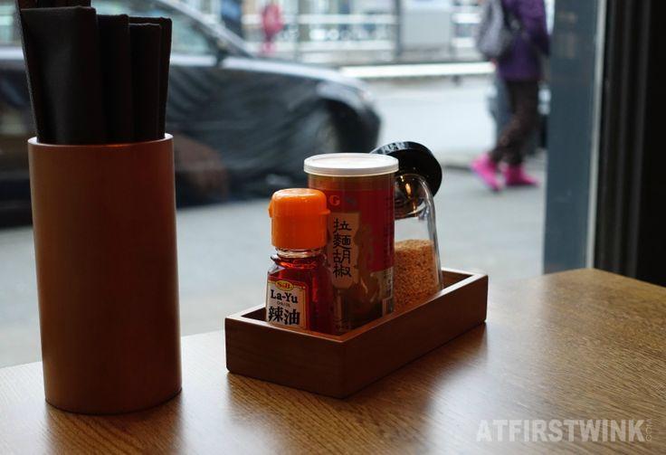 Takumi Düsseldorf Rotterdam ramen condiments