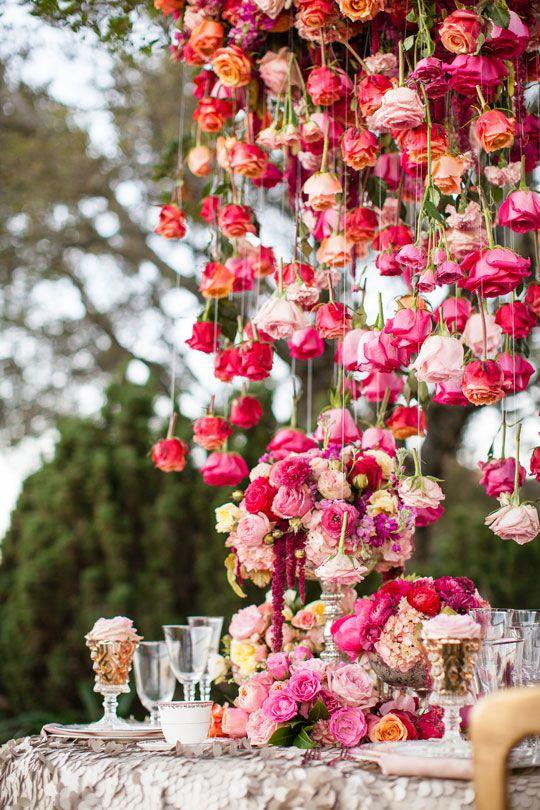 21 best Floral Chandeliers images on Pinterest | Wedding ...