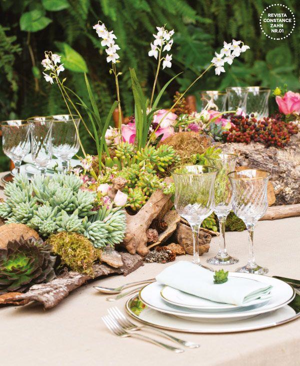 Decoração casamento rústico - Arranjo mesa (Decoração: Clarissa Rezende | Foto: João Coelho)