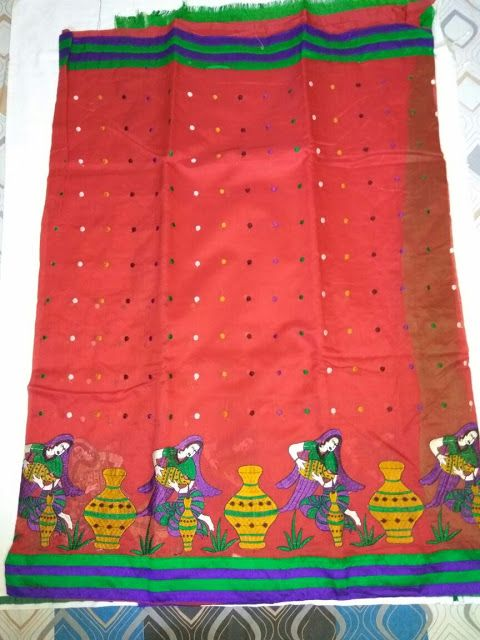 Kota saree with all over embroidery with contrast blouse | Buy Online Sarees | Elegant Fashion Wear