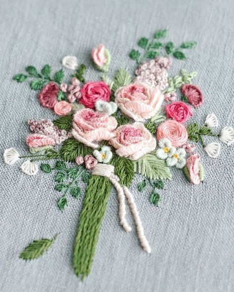 embroidery flower bouquet