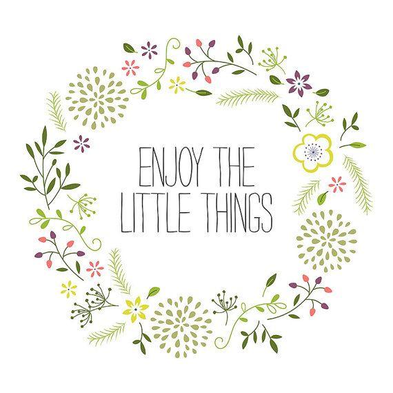 Enjoy the Little Things Printable Art by HoneyGirlMarket on Etsy