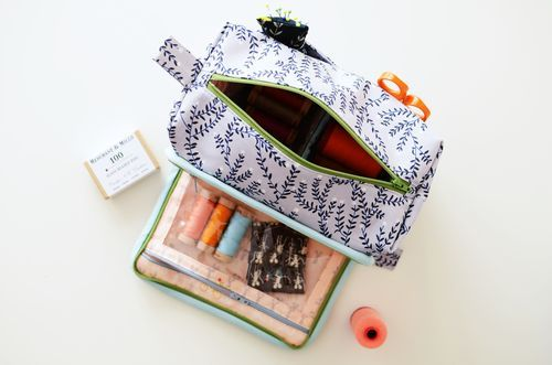 All in one box pouch. Pattern and tutorial.