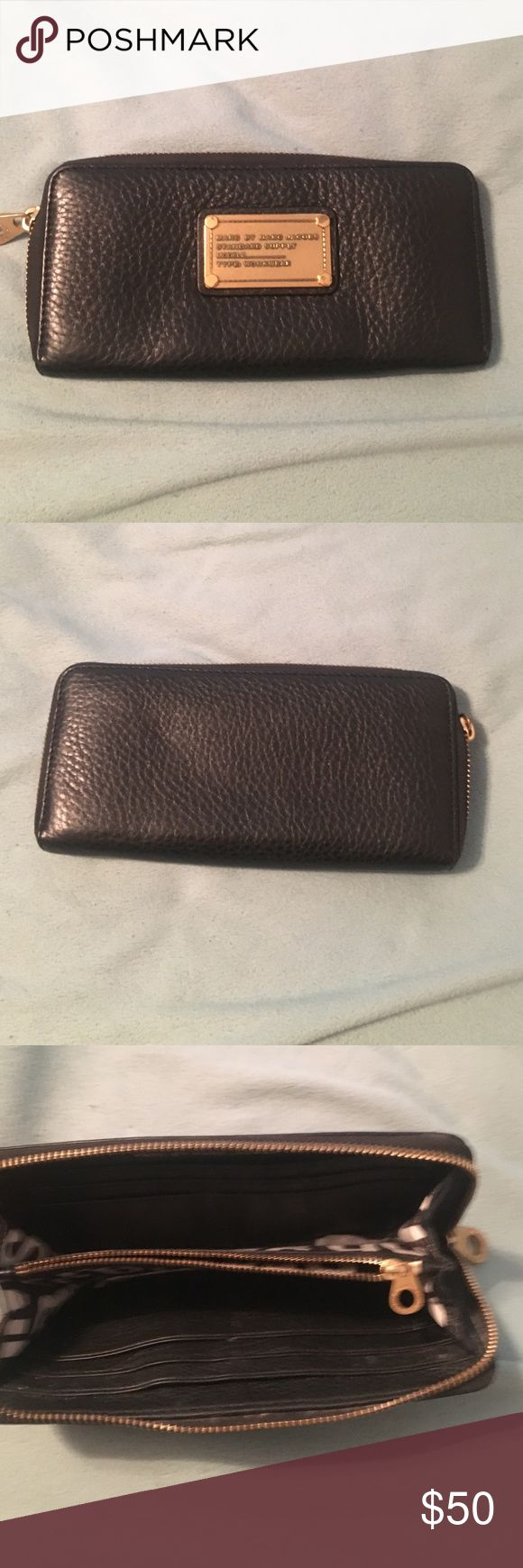 Marc Jacobs wallet Black Marc jacobs wallet with gold plaque Marc by Marc Jacobs Bags Wallets