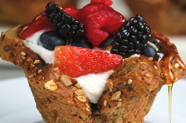 These Berry French Toast Cups Are The Prettiest Breakfast Bites Ever