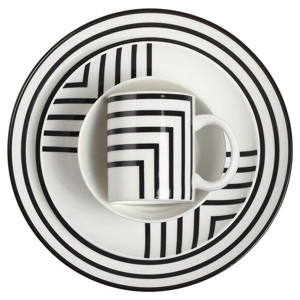 Geo Stripes Place Setting