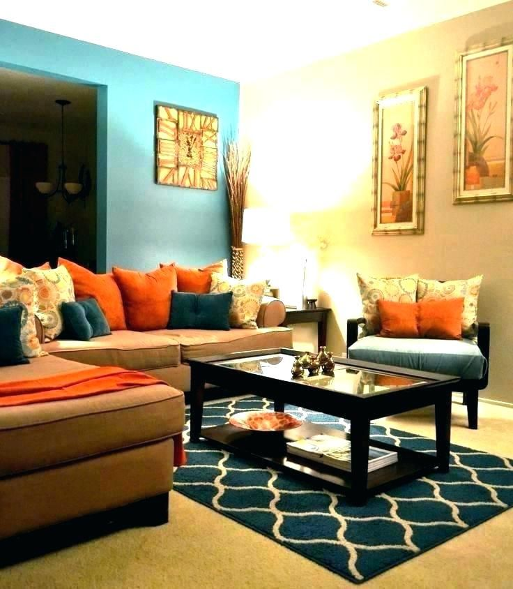 Burnt Orange Sofa Living Room Ideas Living Room Orange Teal Living Rooms Living Room Turquoise