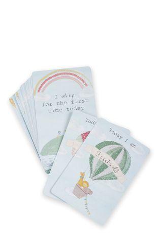 Súprava 24 kartičiek zobrazujúcich míľniky prvého roka v živote bábätka