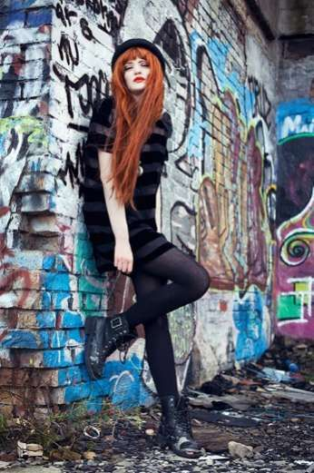 Fiery Urban Fashion - Lookbook.nu User Cosette Munch is Ablaze in These Inner-City Stills (GALLERY)