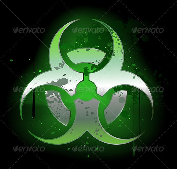 Biohazard  Symbol on Dark Background