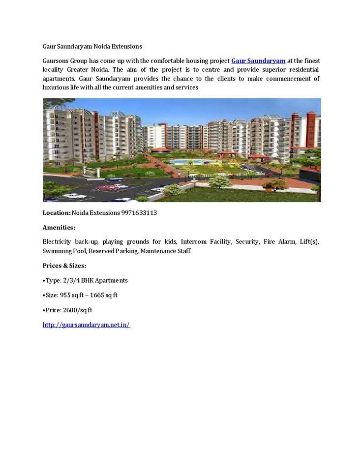 Gaur Saundaryam Noida Extensions  Gaur Saundaryam Noida…