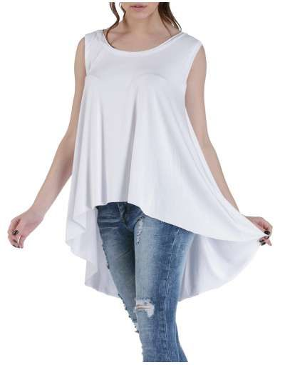 ΝΕΕΣ ΑΦΙΞΕΙΣ :: T-shirt Sleevless Long Fit White - OEM