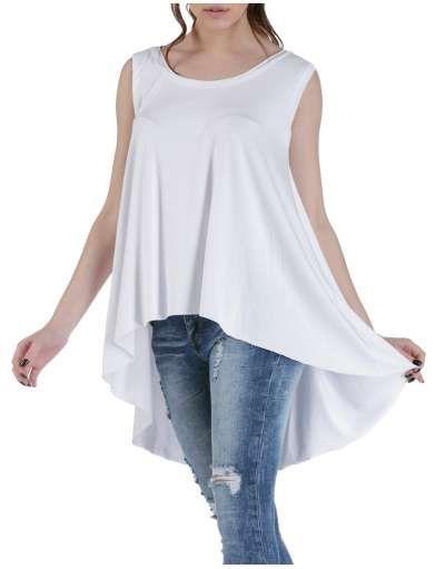 ΝΕΕΣ ΑΦΙΞΕΙΣ :: T-shirt Sleevless Long Fit White - OEM