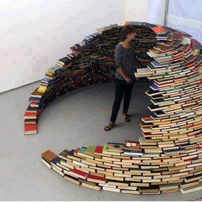 """I would sit in my books igloo and read for hours tbh  I WOULD SO DO THIS IF I HAD A ROOM LEFT IN MY HOUSE NOT OCCUPIED"" My only problem is that I would see a title I would want to reread, pull it out, and have the whole thing collapse on me."