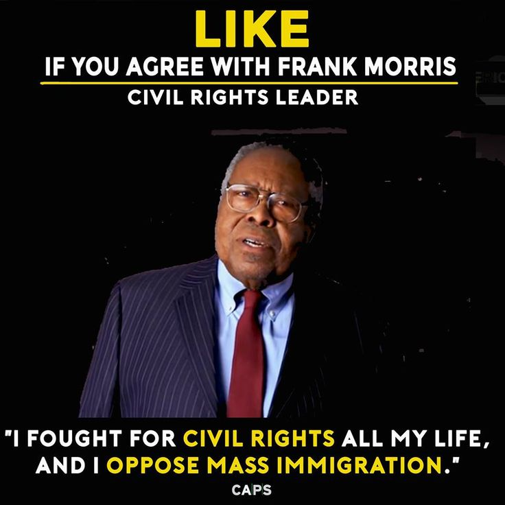 Opposing mass immigration isn't racist, it's common sense. Civil Rights leader Frank Morris agrees. Yet, Paul Ryan is giving away the American Dream. Tell Speaker Ryan to slow mass immigration and stop giving working class jobs away. Ask him how he'd feel if his job was given away. Visit: savethedream.us