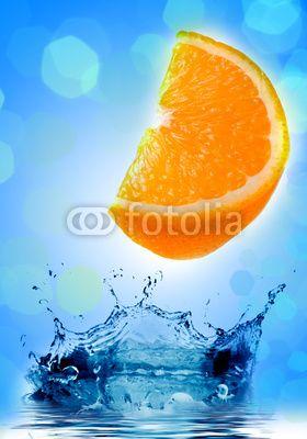 Fresh orange jumping