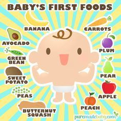 Puremade Baby | Baby's First Foods | All stage 1 baby foods to choose from. Gentle and safe for baby's tummy. Remember to always choose organic whenever possible.