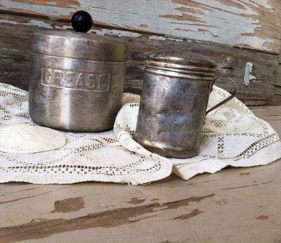Antique Aluminum Primitive Kitchen Tools  by happydayantiques