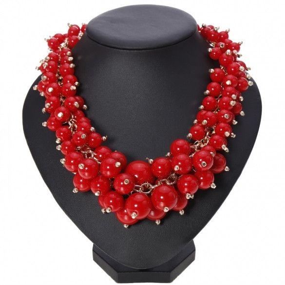 Hot Fashion Women's Candy Color Multi-chain Long Necklace Pendant