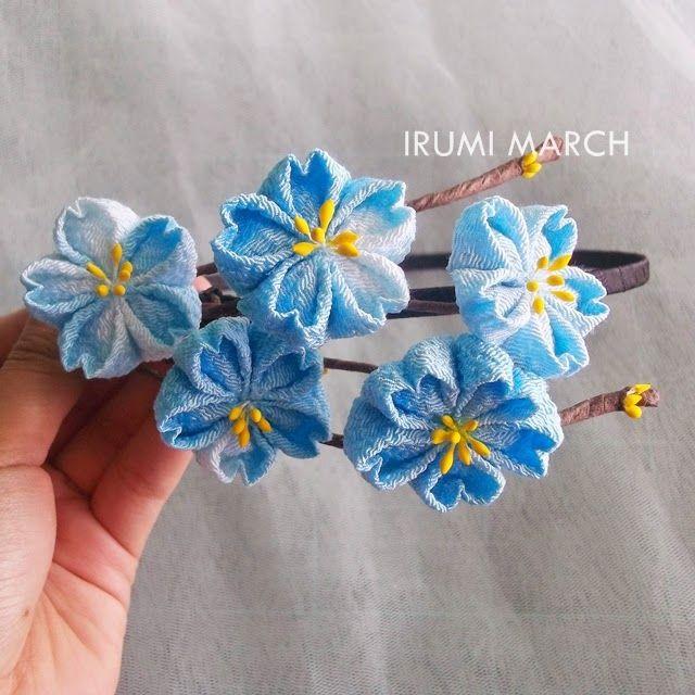Blue Sakura Kanzashi by rinei on DeviantArt