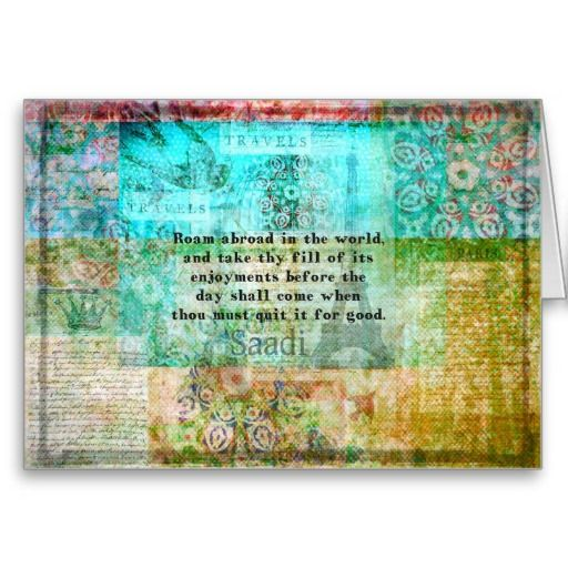Postcard Quotes Travel: Travel Adventure Quote Card
