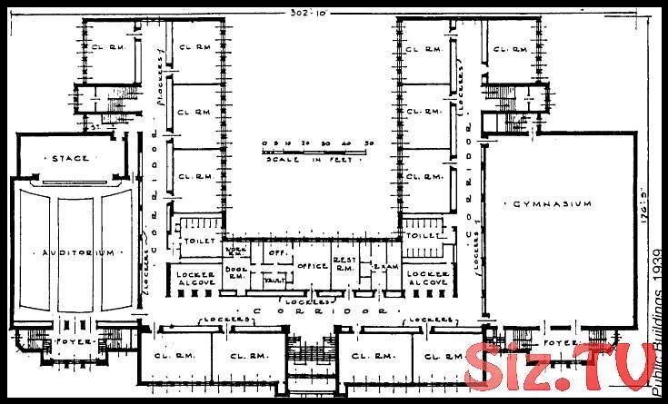 Baupläne für Grundschulgebäude Der Bauplan und der Grundriss des Th