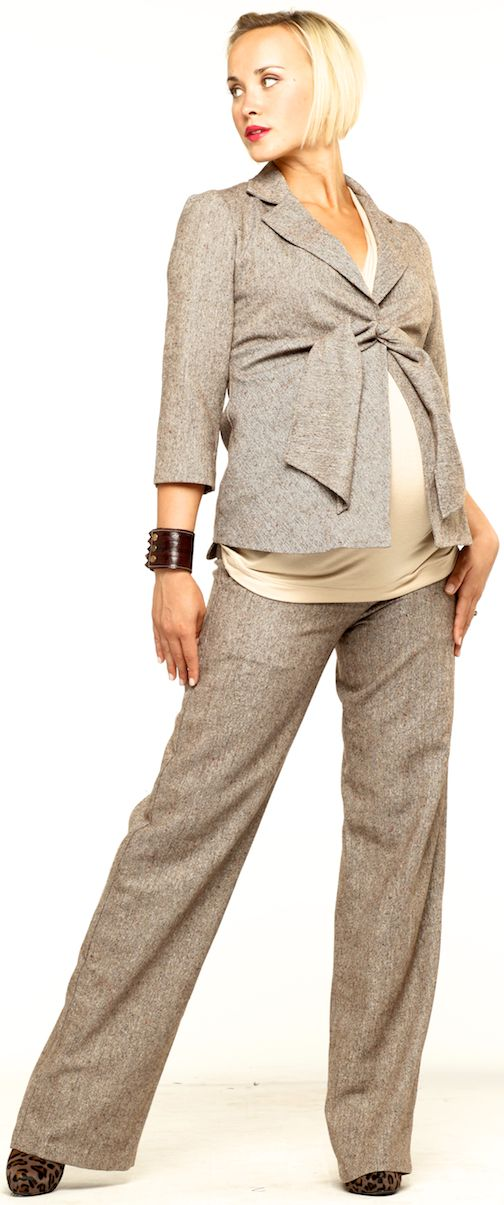 Straight Leg Maternity Trouser Pants by Maternal America | Maternity Clothes  Best selection of professional maternity clothes! available at Due Maternity www.duematernity.com