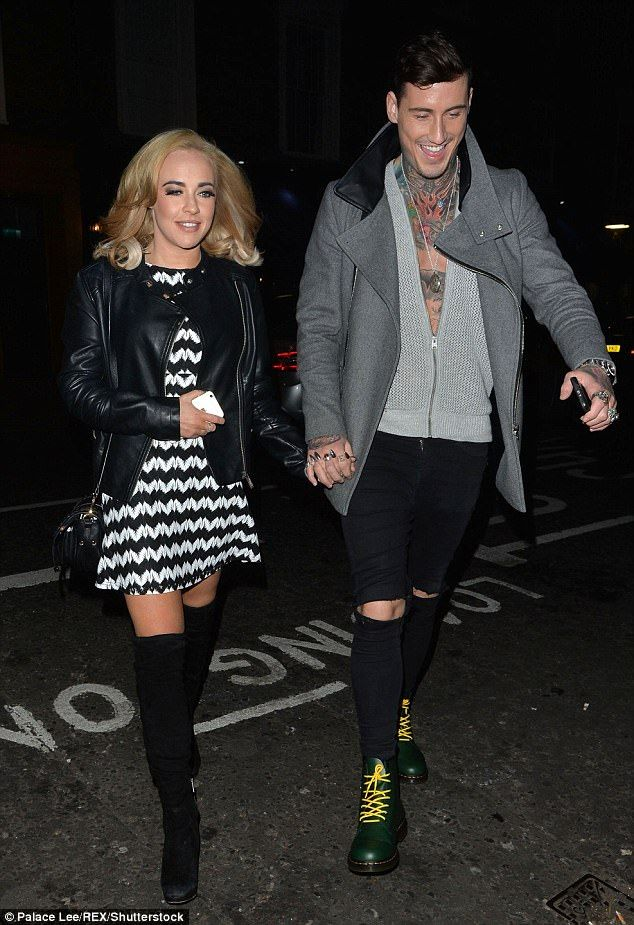 Hold on:Stephanie Davis has said she will 'always love' Jeremy McConnell, just weeks after his arrest on suspicion of assaulting her