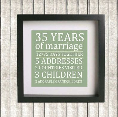 25 best ideas about 35th wedding anniversary gift on for 35th wedding anniversary gift ideas