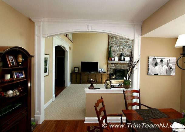 Ideas For Openings Between Rooms Arched Opening Between Kitchen And Family Room