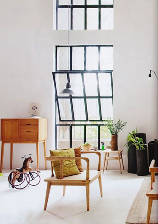thick black steel window frames / sfgirlbybay