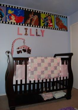 Disney nursery. what they stole my idea for a movie room. lol