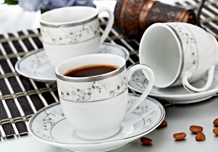 Zerden 12 Parça Porselen Kahve Fincan Takımı 605