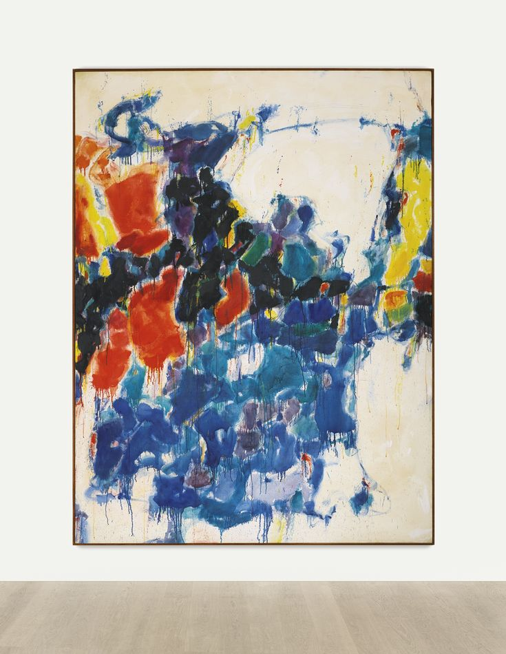Sam Francis 1923 - 1994 SUMMER #1 oil on canvas 95 1/2 by 72 in. 242.6 by 182.9 cm. Executed in 1957.