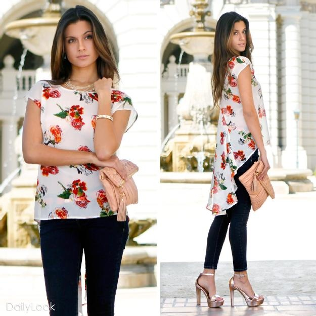 Pretty floral topFloral Tops, Fashion, Floral Chiffon, Floral Surrender, Closets, Shirts, Floral High, Sweets Floral, Blazers