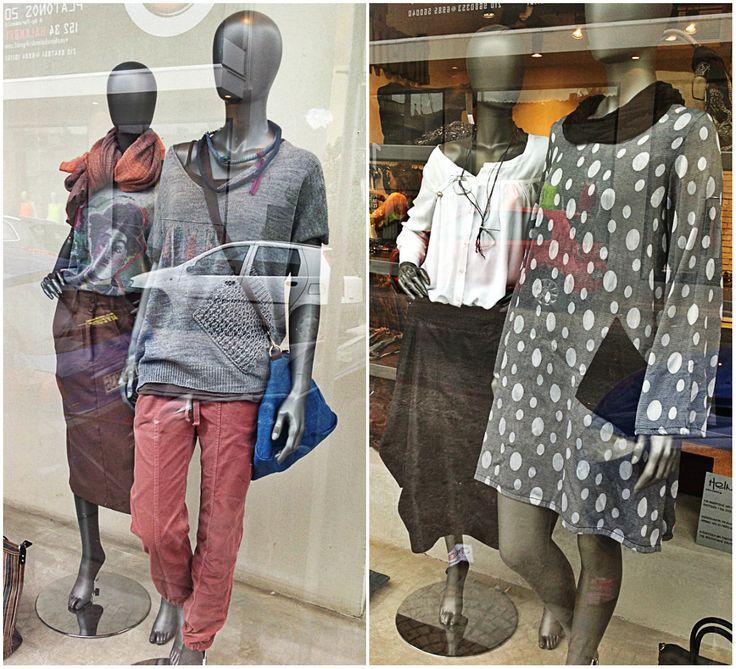 ♥To window shopping μας εμπνέει.. Window display in Halandri, part2!  http://www.helmi.gr/φορεμα-πουα-καμπανα-μανικι  http://www.helmi.gr/φουστα-μακρια-μπαλουν-μεγαλεσ-τσεπεσ  http://www.helmi.gr/μπλουζα-κμ-τυπωμα-charlie-chaplin