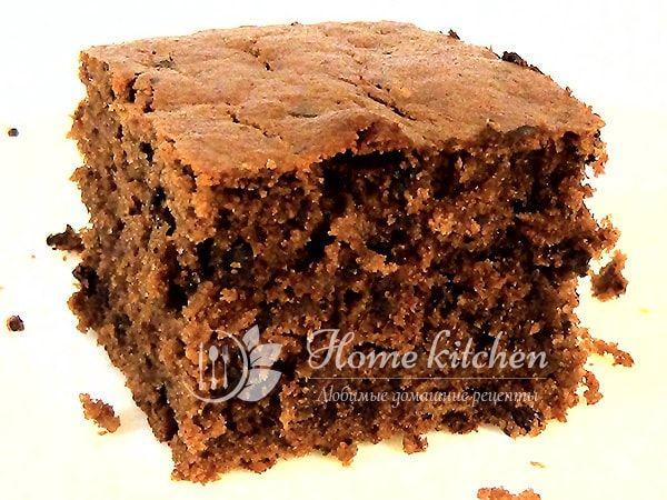 Сладкий пирог с кабачком. Аппетитный, с насыщенным шоколадным вкусом. Внутри пирог мягкий и влажный, а снаружи хрустящая корочка. Пробуйте на здоровье! ♥