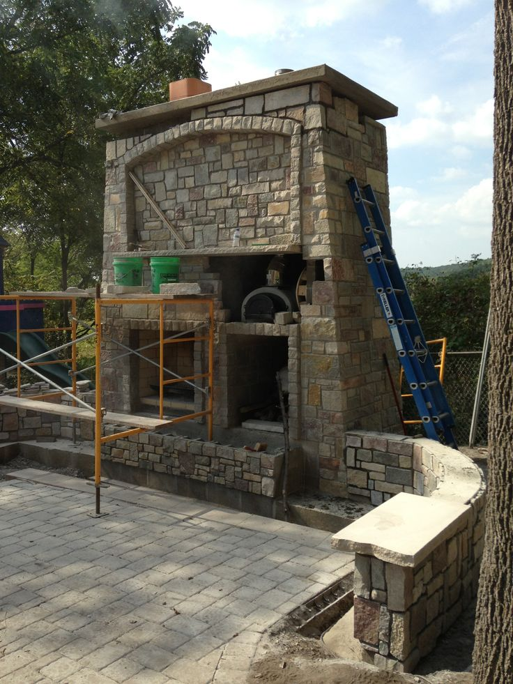 Outdoor Fireplace And Pizza Oven For The Home Pinterest Outdoor Fireplaces Pizza And Ovens