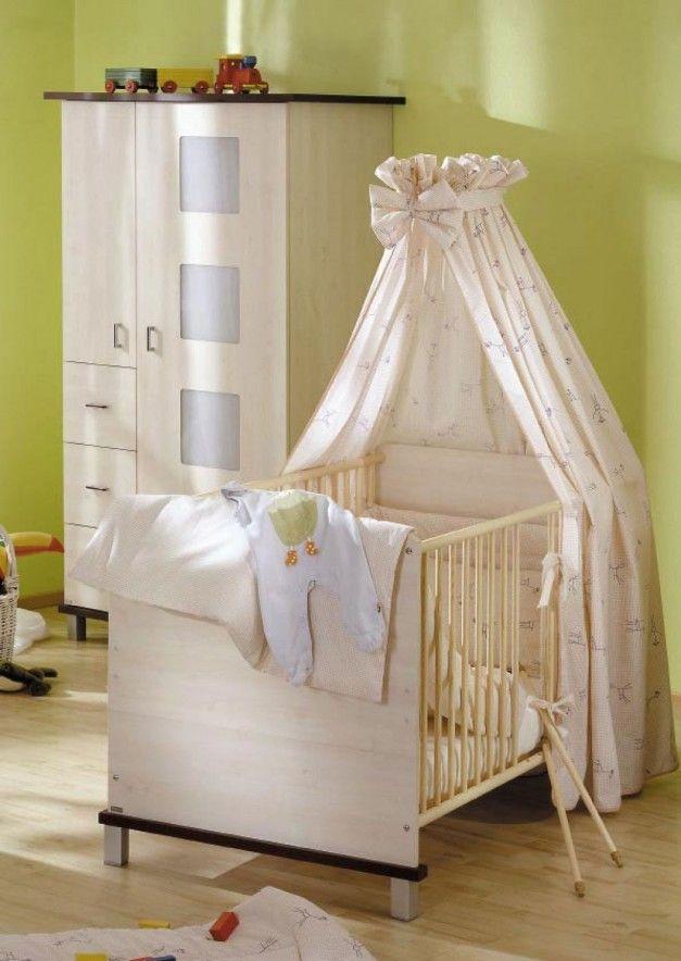Vintage Muebles fijado para el Parvulario beb con cama y armario Por Paidi
