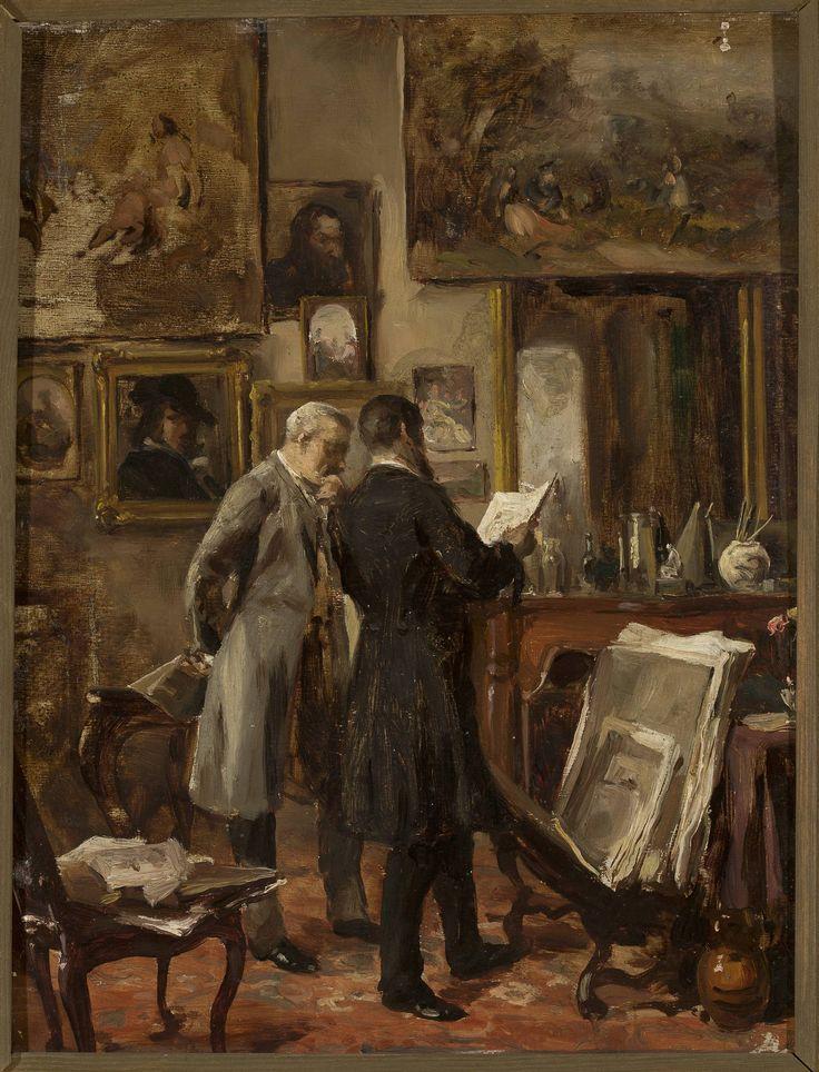 W pracowni malarza - Aleksander Gierymski