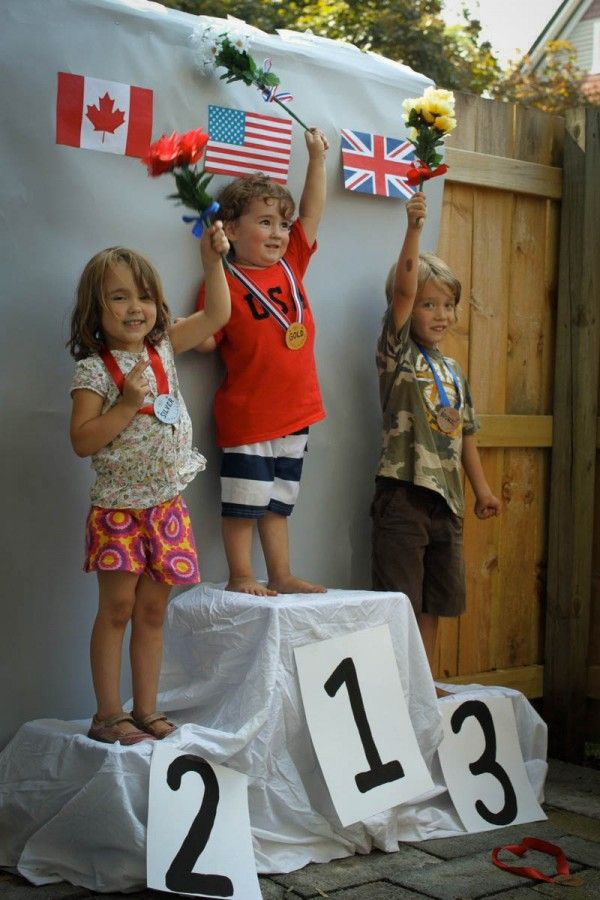 Olympic themed 3rd birthday party via Tar-Tryin'