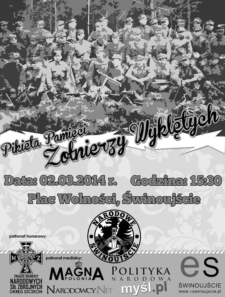 02.03.14 r. – Pikieta Pamięci Żołnierzy Wyklętych | Świnoujście w sieci