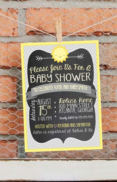 Sunshine Baby Shower Invitation  You Are by LibertyAndLilacPaper