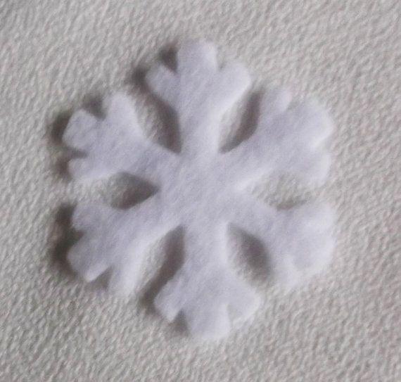 Set de 6  copos de nieve de fieltros fieltro Scrapbooking de