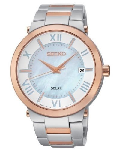 Got this as a late b-day gift & I'm in love with it  Seiko Women's SNE882 Solar Watch With Rose Gold & Silver! I love watches!